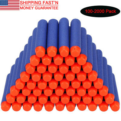 100-2000x Refill Safety Soft Darts Bullets Toy For N-Strike Elite Series