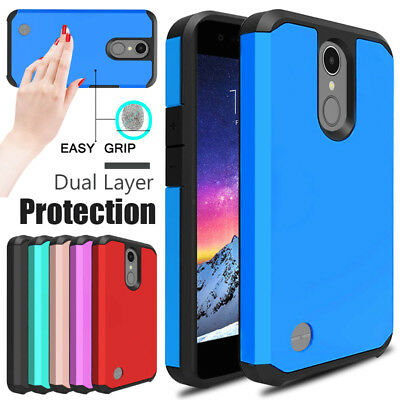 For LG Aristo 3/Tribute Empire Phone Case Shockproof Hybrid Rubber Armor Cover