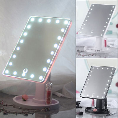 Makeup Mirror  22 LED Screen Tabletop Cosmetic Vanity light up Mirror HOT