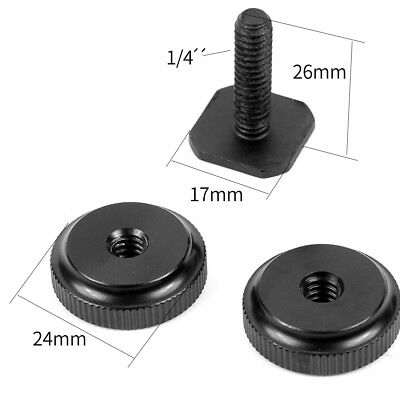 Professional 1/4 Inch Tripod Mount Screw to Flash Hot Shoe Adapter