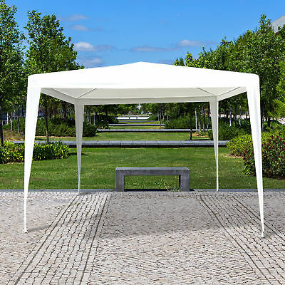 10x10ft Portable Gazebo Tent Outdoor Canopy Event Shelter Sun Shade White
