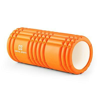 NEW ORANGE YOGA FOAM ROLLER RELAX MUSCLE MASSAGE 33X14 cm * FREE P&P UK OFFER
