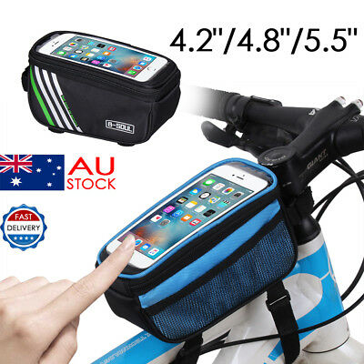 Waterproof Bicycle Bike Frame Front Tube Pack Cycling Mobile Phone Bag Pannier A
