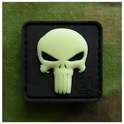 JTG Mini Punisher Patch gid, glow in the dark / 3D Rubber Patch