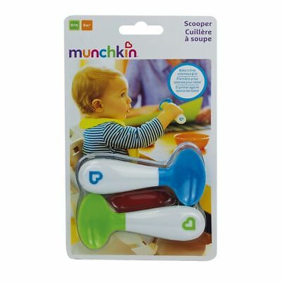 Munchkin Baby Toddler Self-Feeding Scooper Spoons - Pack of 2, Multi-Coloured