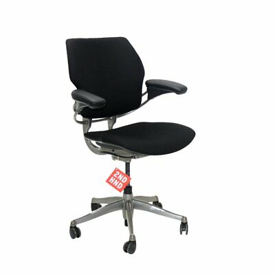 Humanscale Freedom Med Back Chair New Black Leather
