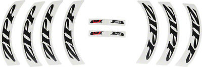 Zipp Decal Set 404 Matte Black Logo Complete for One Wheel