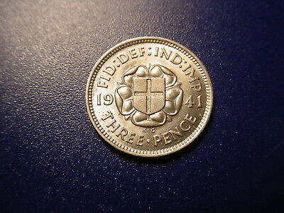 British - Silver - 1941 Threepence In Brilliant Uncirculated Condition
