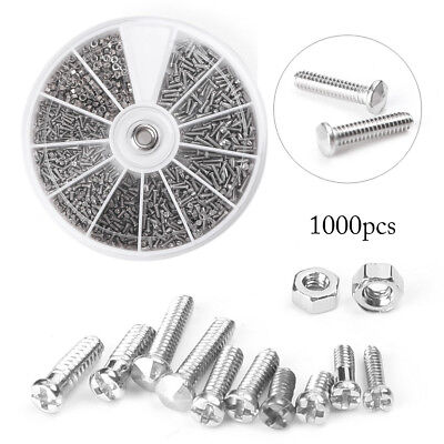 Practical Tool for 1000pcs 12 Small Screws Nuts Assortment Set M1 M1.2 M1.4 M1.6