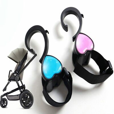 2 Pcs Hook Baby Stroller Carriage Sticker 360 Degree Rotation Bag Hanging Hanger