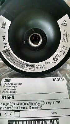 "**** New 3M 915 05680 Disc Backup Hook & Loop Pad Holder Mmm 5"" Dia. 5/8""-11 ***"