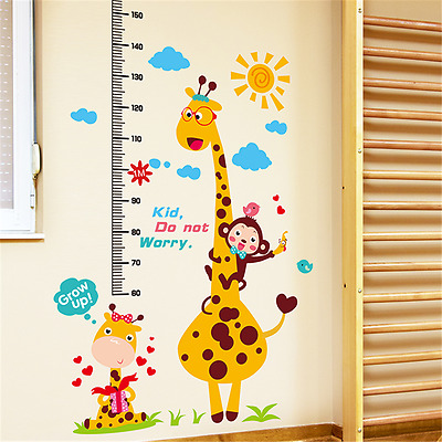 Removable Cartoon Animal Wall Stickers Kindergarten Kids Nursery Room Wall Decor