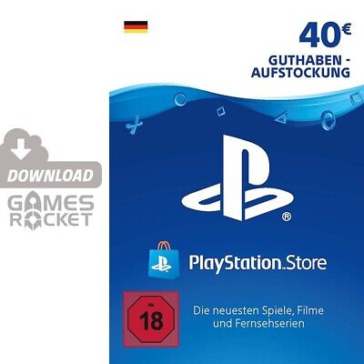 40€ PSN DE Playstation Network Code Card 40 Euro € EUR | PS4, PS3, Vita Guthaben