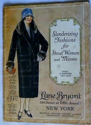 Vintage Fall Winter 1927-1928 Lane Bryant Catalog Women's Fashion