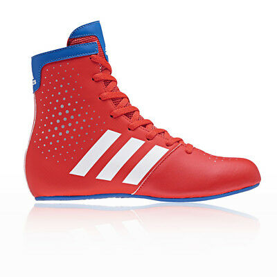 adidas Boys KO Legend 16.2 Junior Boxing Shoes Blue Red Sports Breathable