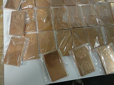 COPPER BAR  1/2 POUND- HALF POUND. ART BAR- 999 FINE COPPER BULLION-8  oz.random