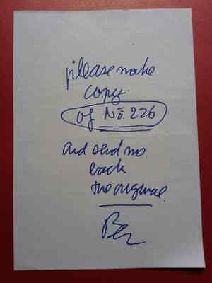 Ben Vautier Please make copy scritta e disegno su carta del 2004 con email.