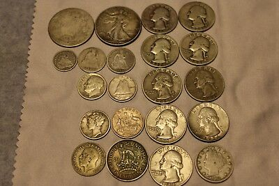 Mixed Silver Coin Lot US/Canada WW2/Half Dime/nice lot WASH.25/ 3.6oz SILVER!!!