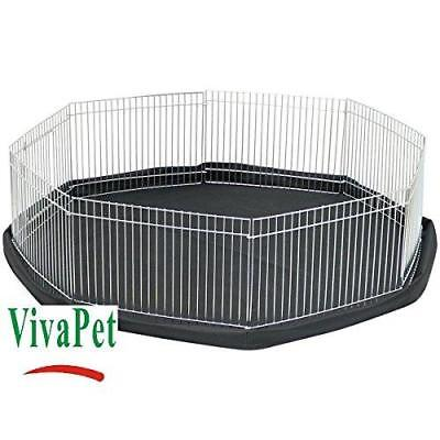 Pet Run Cage Pen Cage & Water Resistant Mat Hamster Rabbit Guinea Pig Play Cage