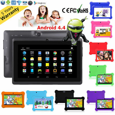7'' inch Quad Core HD Tablet for Kids Android 4.4 KitKat Dual Camera WiFi GIFT