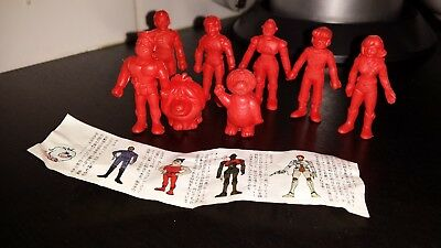 Captain Future Capitaine Flam Capitan Futuro Figuren Figures Set Rot RARE 1980
