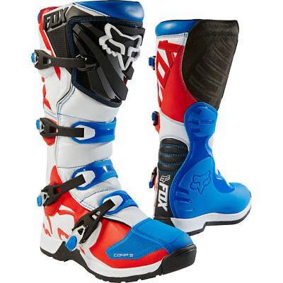 2018 Fox Racing Motocross Stiefel Comp 5 Blau Rot Special Edition Gr.45 (US 11)