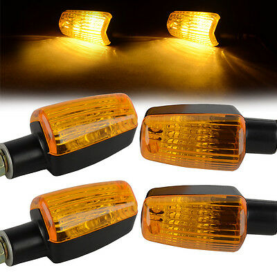 4pcs New Mini Universal Motorcycle Turn Signal Indicator Light Lamp Bulb Black