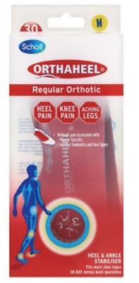 Scholl Orthaheel Regular 3/4 Orthotic Insoles | Relieve Aches & Pains Medium