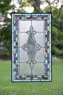 "20"" x 34"" Large Tiffany Style stained glass Beveled window panel"