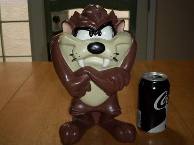 "#1997 WARNER BROS LARGE 11"" RESIN TAZ Tasmanian Devil FIGURE Statue Looney Tunes"