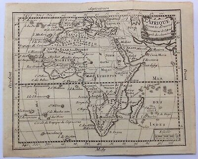 AFRICA XVIIIe CENTURY ANTIQUE COPPER ENGRAVED MAP