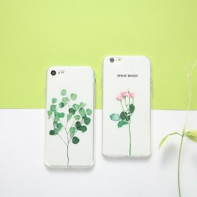 Ultra Thin Flower Pattern Soft TPU Gel Case Cover For Apple iPhone X 5s 6s 7Plus