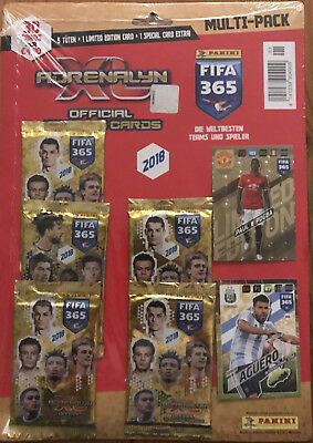 Panini Adrenalyn XL 4x Multi-Pack je 5 Booster Limited Edition - FIFA 365 2018