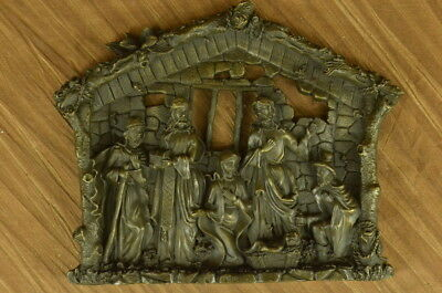 Hand Made Bronze Nativity Collection Figurine Museum Christianity Inspiration