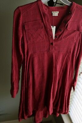 ANTHROPOLOGIE HOLDING HORSES Red High Low Dress Size 0 NWT -  75.00 ... 1c0d668b4a455