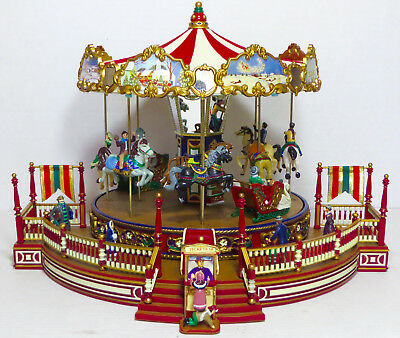 Mr Christmas Holiday Around The Carousel 30 Song Musical Merry Go Round IOB