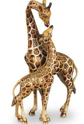 JAY STRONGWATER MOTHER & BABY GIRAFFE Figurine from the Safari Collection, NEW!
