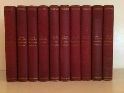 David McKay The Complete Works of William Shakespeare Vol 1-10 Book Set