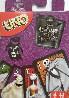 UNO - Disney - Tim Burtons The Nightmare Before Christmas Playing Card Game Deck
