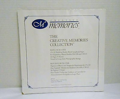 Creative Memories 12 x 12 Wedding Border Blank Pages 5 Sheets/10 Pages NIP