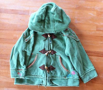 Next Green Girls Hoodie, Cotton 11/2 -2 yrs