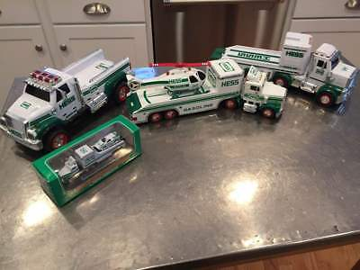 """hess Toy Fire Trucks 1995-2013, Good To Mint"", Lot Of 4"""