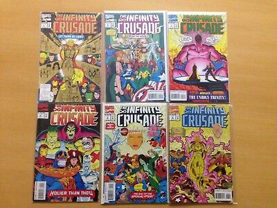 Infinity Crusade #1 2 3 4 5 6 Complete Set Series Lot 1-6 VF/NM Thanos Gauntlet