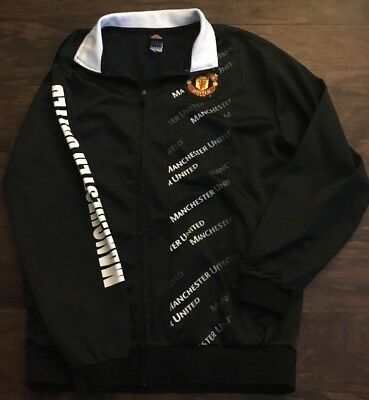 Manchester United Official Football Club Soccer Track Coat Jacket Size Large