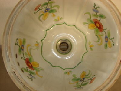 Sherle Wagner Antique Hand Painted Under Counter Sink