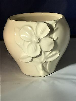 Beige Candle Holder  with Flower Handmade