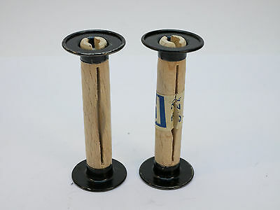 2pcs Wood and Metal Take-Up Spool for 120 Film Cameras