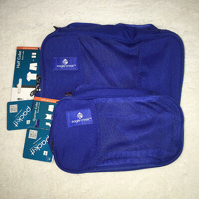 Eagle Creek Pack-It 2pc Set Half Cube/Quarter Cube - Blue Sea