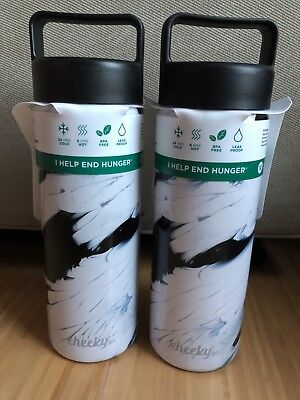 Lot of 2 New Cheeky Go Double Wall Stainless-Steel Bottle 20oz 24hr Cold 6hr Hot