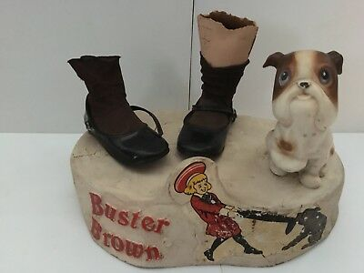 Vintage Buster Brown Shoes Advertising Piece. RARE. Unique! Made of Ceramic.